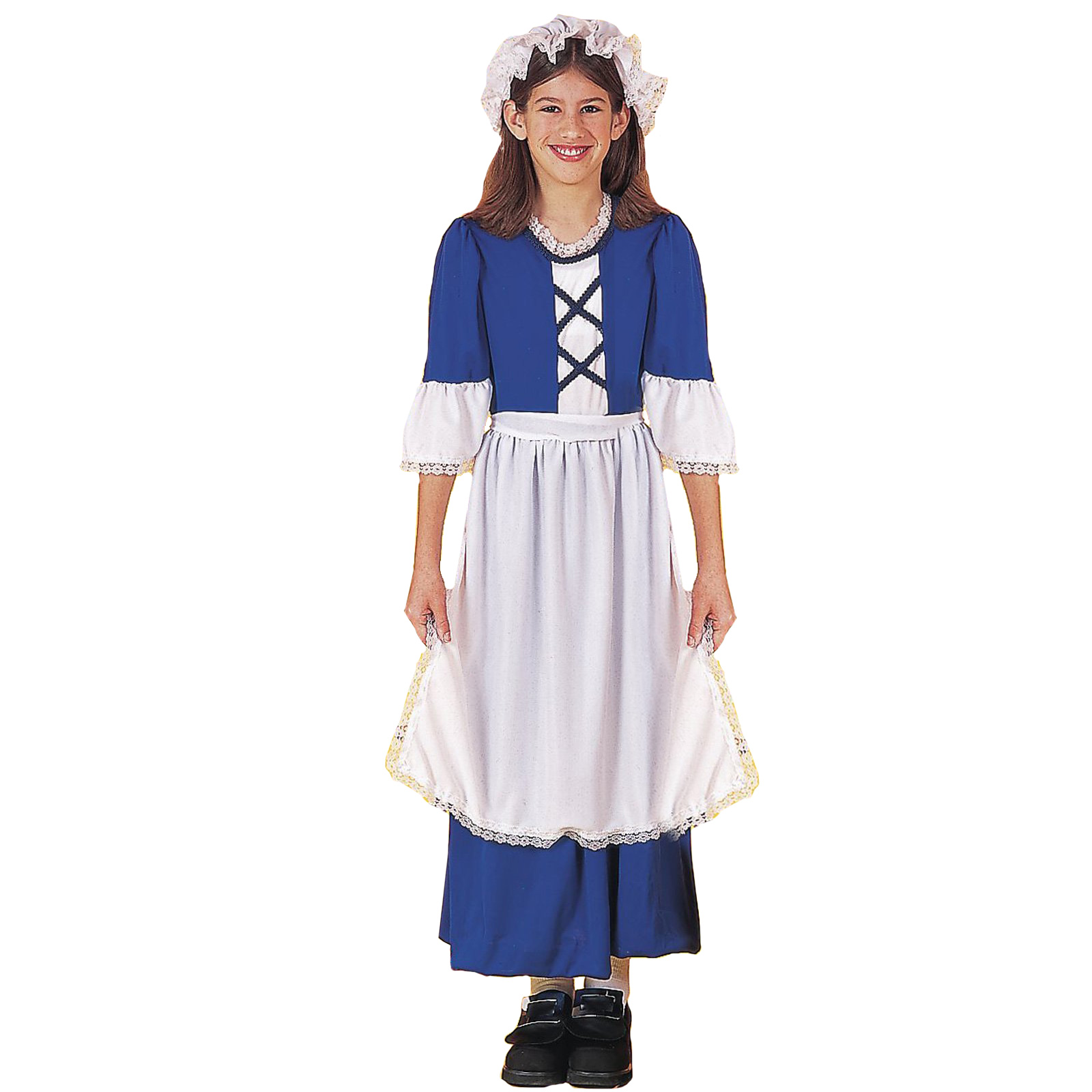 ... Picture 2 of 2  sc 1 st  eBay & Little Miss Colonial Pilgrim Blue Small 4 - 6 Girls Costume | eBay
