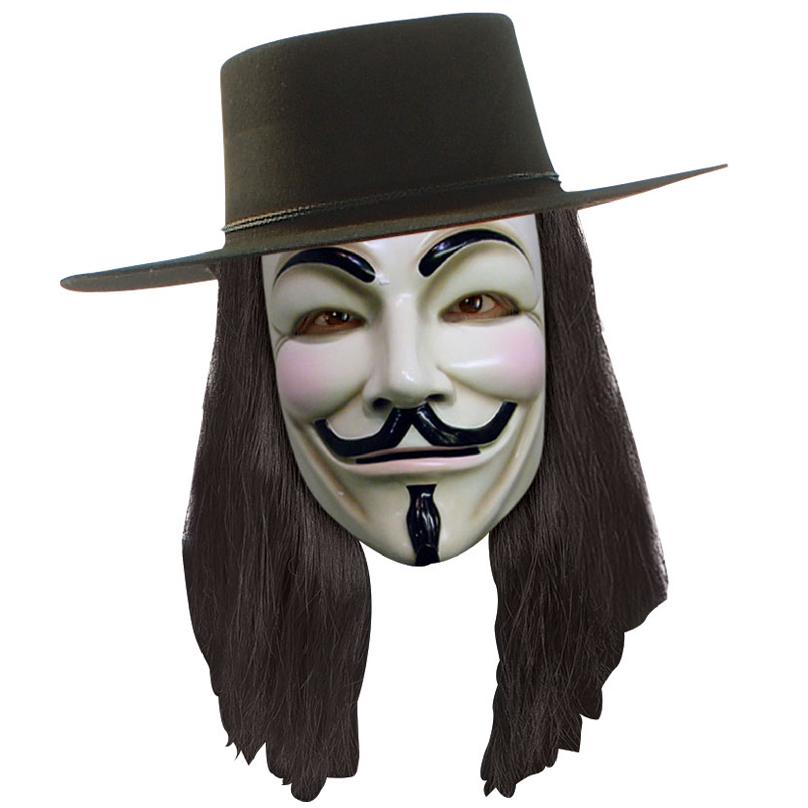 V for Vendetta Anonymous Mask Fancy Dress Up Halloween Cosplay Costume Accessory