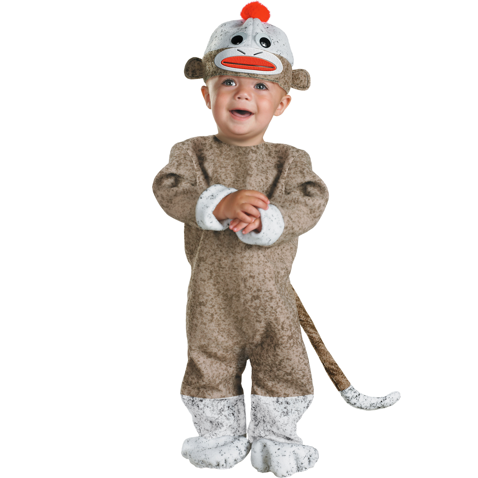Cute Sock Monkey Infant Costume Halloween Fancy Dress