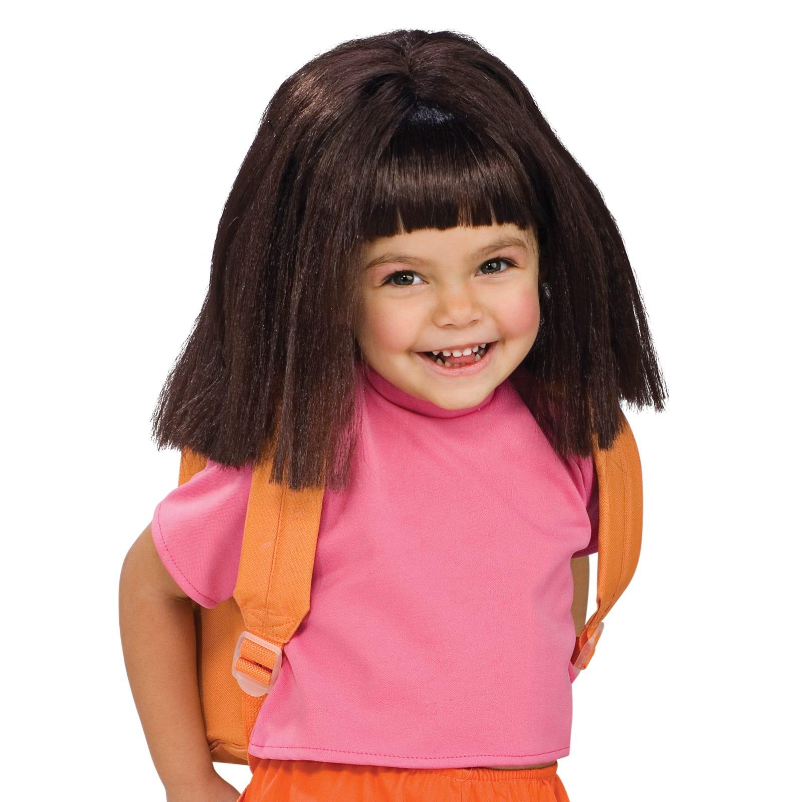 licensed dora the explorer wig girls child cute fancy dress up