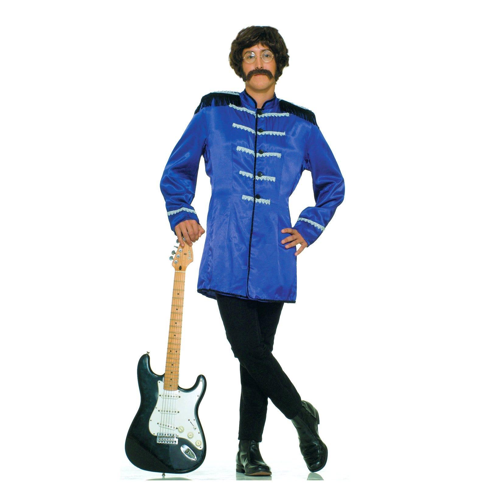 Blue Mens 60s POP Rock Fancy Dress Suit Halloween Costume STA | eBay