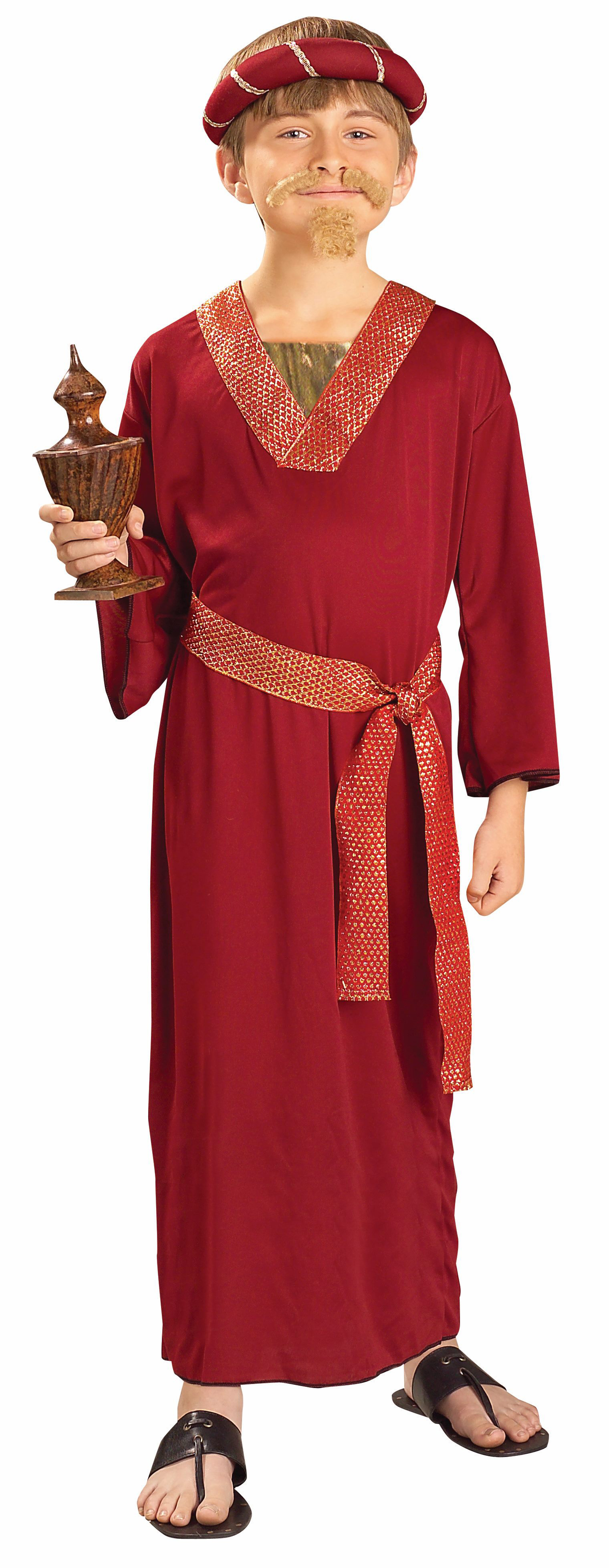 Details about Childrens Boys Burgundy Wiseman Nativity Christian Christmas  Dress Up Costume