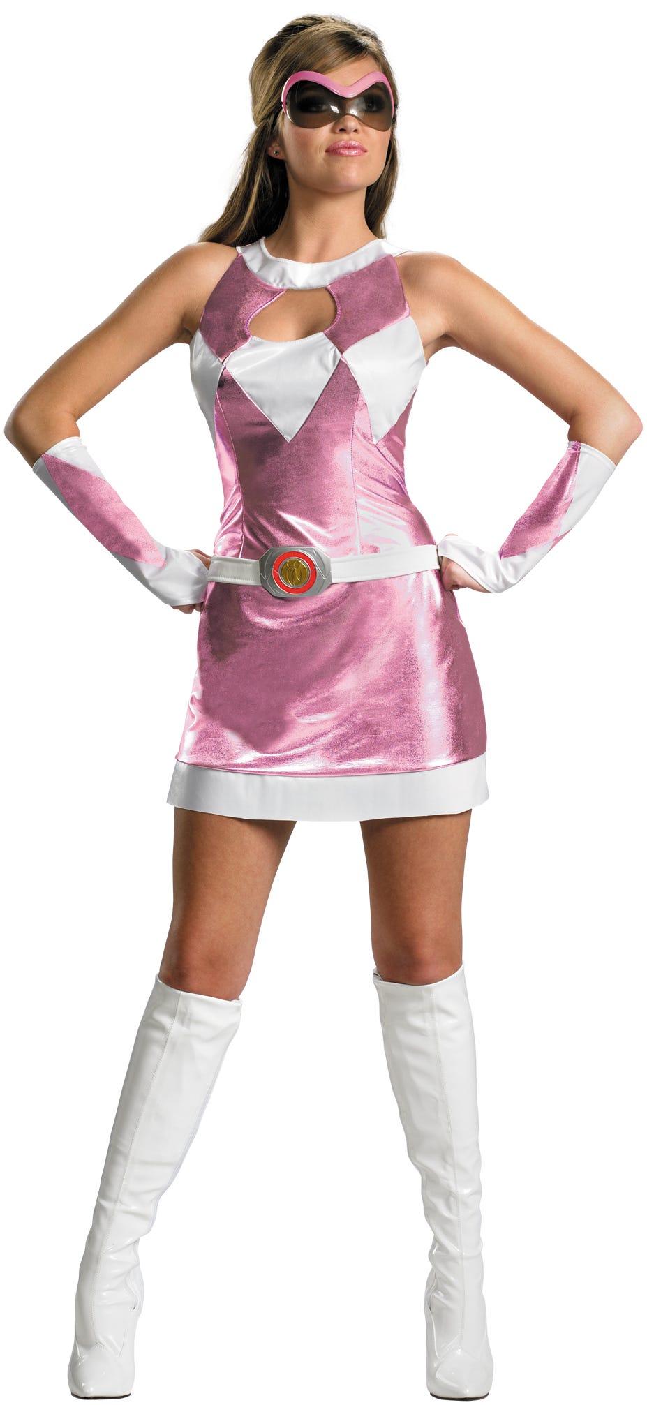 Pink power ranger costume adulto