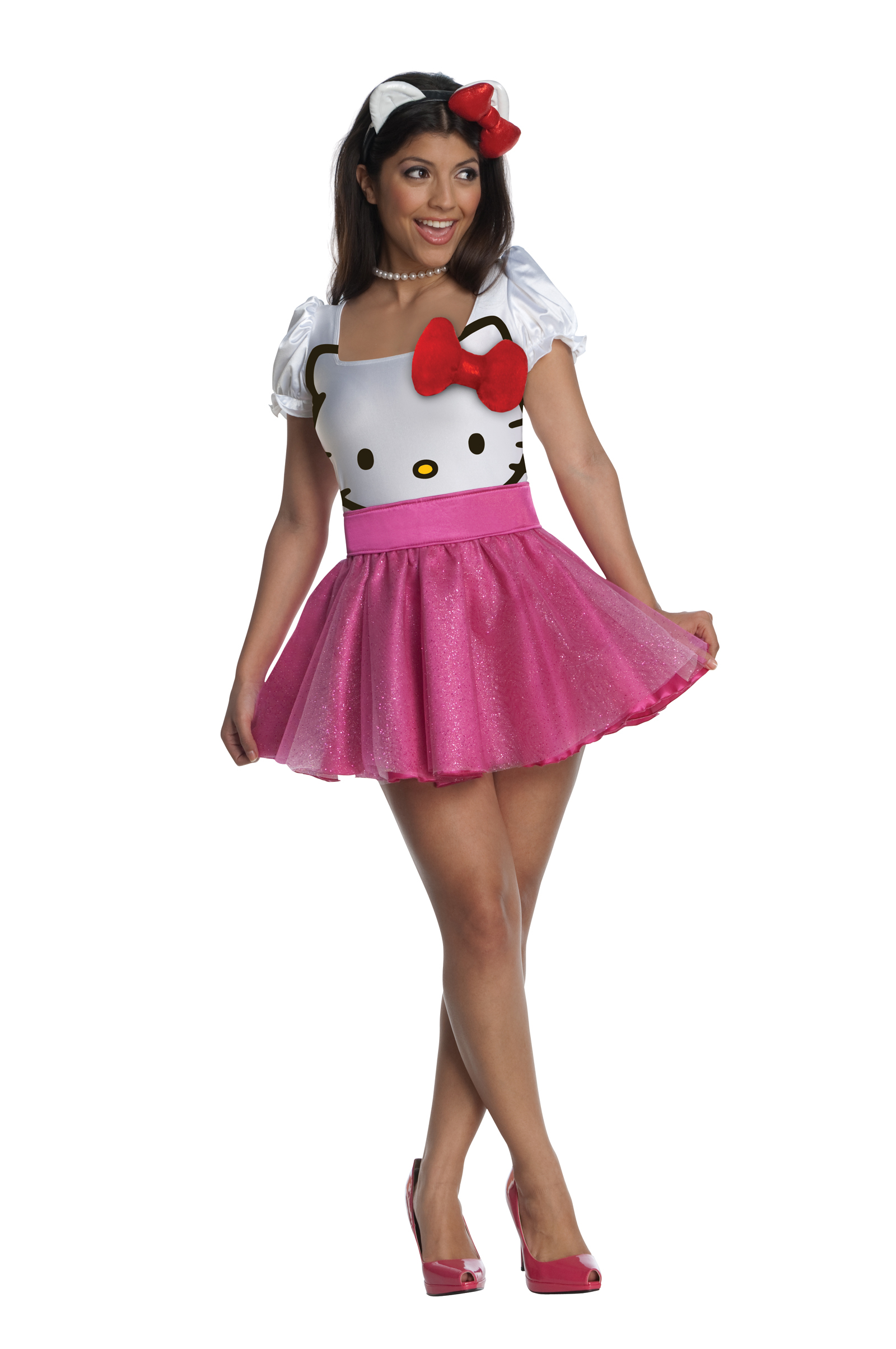 Hello kitty cute licensed adult womens costume fancy dress up hello kitty cute licensed adult womens costume fancy solutioingenieria Images
