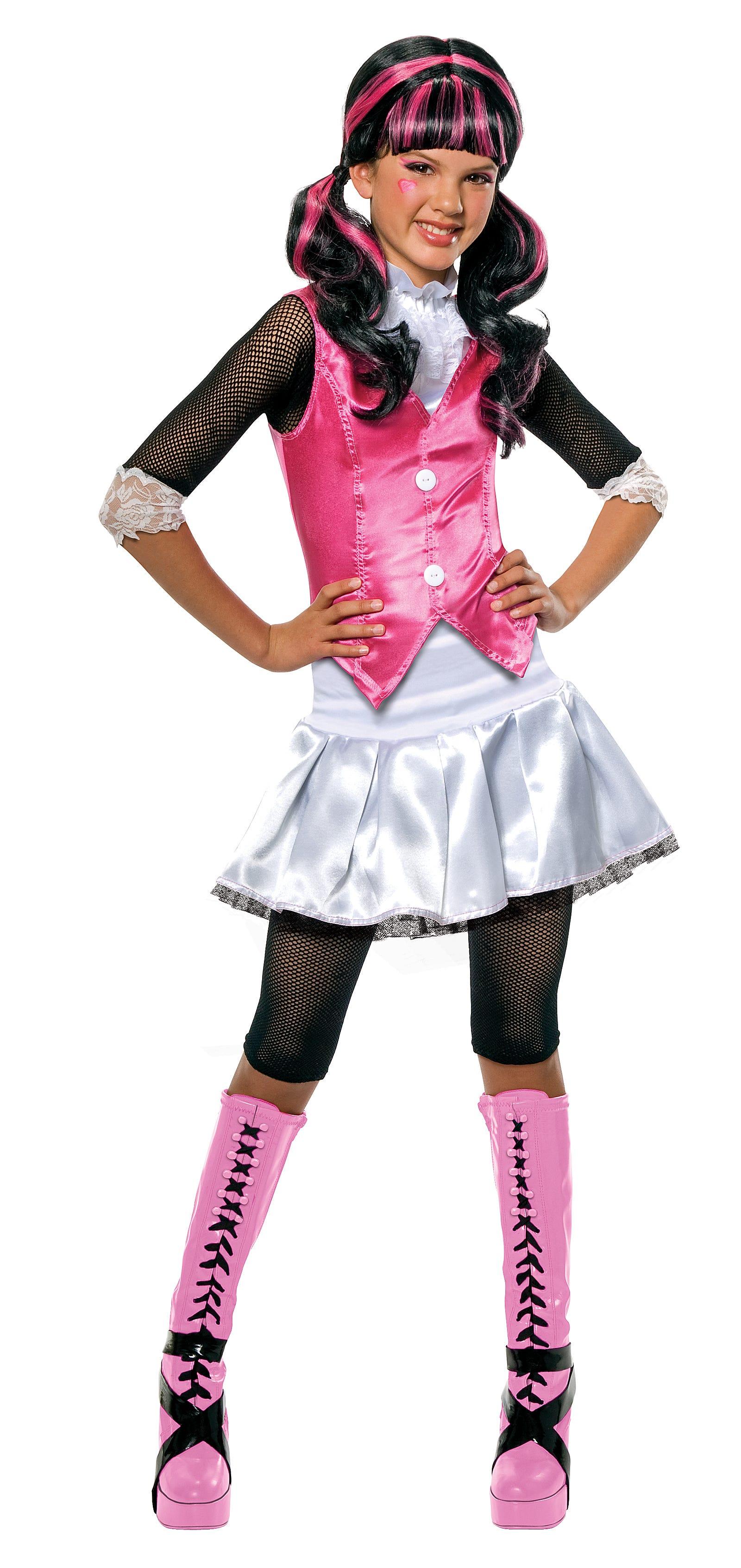 monster high draculaura costume fancy dress up book - Halloween Girl Dress Up