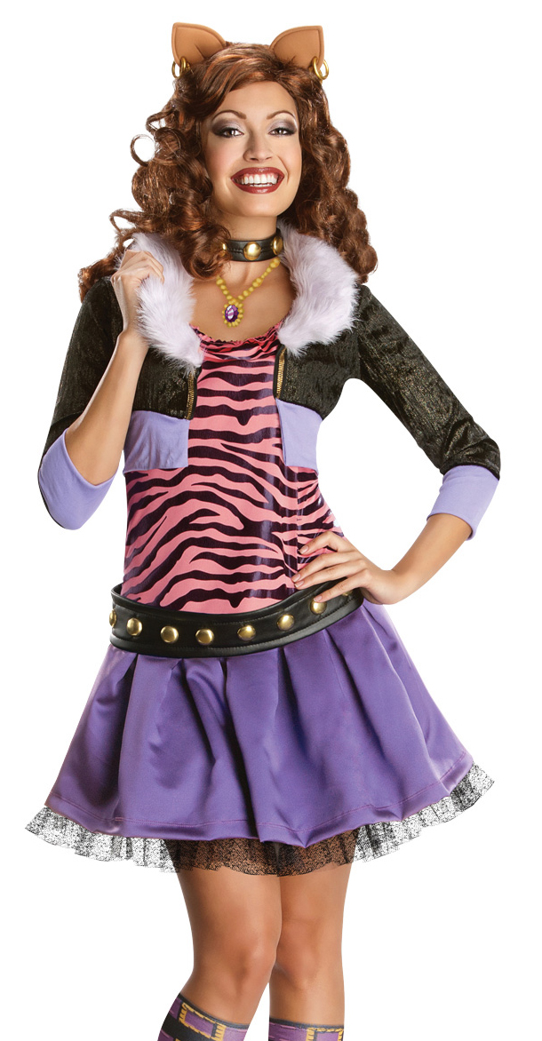 New monster high deluxe clawdeen wolf adult costume ebay