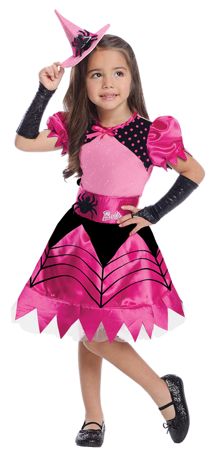 Barbie-Witch-Toddler-Black-&-Pink-Fancy-Dress-  sc 1 st  eBay & Barbie Witch Toddler Black u0026 Pink Fancy Dress Up Child Girls Cute ...