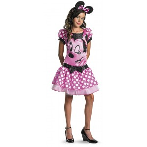 Disney Mickey Mouse Clubhouse Red Minnie Mouse Child Tween Costume