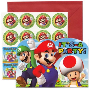 Super Mario Bros It S A Party Invitations Pack Of 8