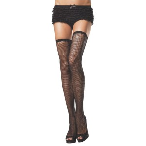 767bf260d90 Women s Fishnet Thigh High French Maid Costume Stockings