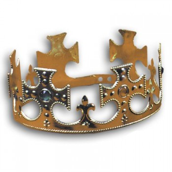 Plastic Jeweled Crown Adjustable Headband Adult's Costume Accessory.jpg