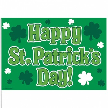 Happy St. Patrick's Day Plastic Stick Flags Pack of 12.jpg