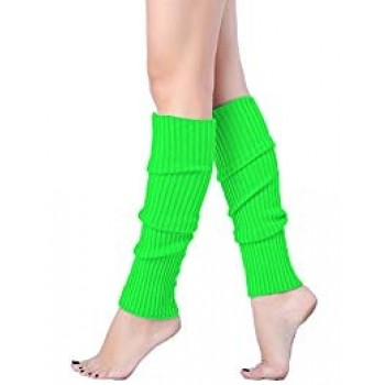 Neon Green Leg Warmers Adult Costume Accessory.jpg