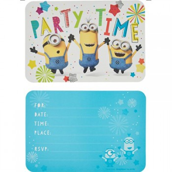Despicable Me Minion Made Party Time Invitations Pack of 8.jpg
