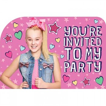 JoJo Siwa You're Invited to My Party Invitations Pack of 8.jpg