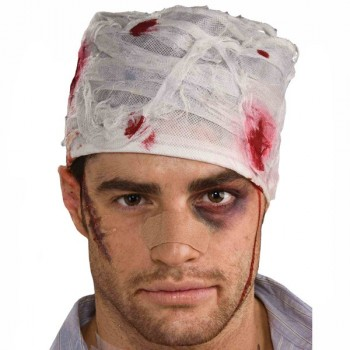 Adult Realistic Bloody Head Bandage Zombie Costume Accessory.jpg