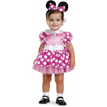 Mickey Mouse Clubhouse Pink Minnie Mouse Infant Girl's Costume.jpg