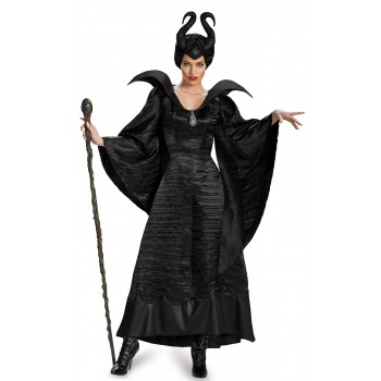 Maleficent Deluxe Christening Black Gown Adult Women's Costume.jpg