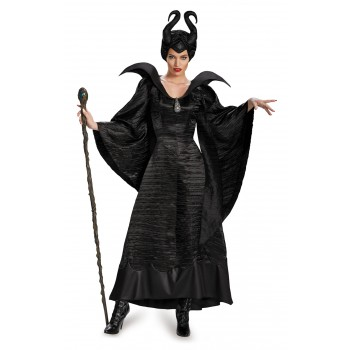 Maleficent Deluxe Christening Black Gown Adult Plus Size Women's Costume.jpg