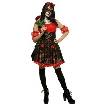 Red Rose Day of the Dead Adult Costume.jpg