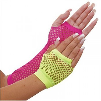 Awesome 80's Fishnet Neon Adult Gloves.jpg