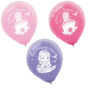 Sofia the First Pink Purple Latex Balloons Pack of 6.jpg