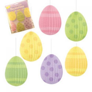 Easter Eggs Pleated Hanging Decorations Pack of 6.jpg
