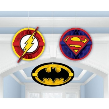 Justice League Honeycomb Hanging Decorations Pack of 3.jpg