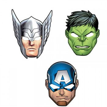 Avengers Epic Cardboard Masks With Elastic Pack of 8.jpg
