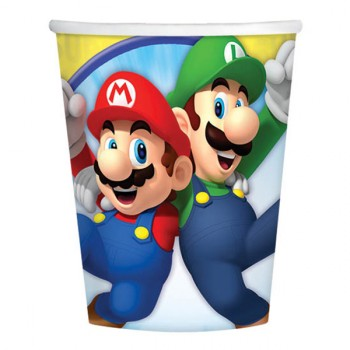 Super Mario Bros. Paper Cups 266ml Pack of 8.jpg
