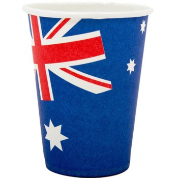 Australian Flag Paper Cups 266ml Pack of 8.jpg
