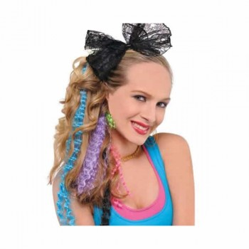 Totally 80's Neon Hair Extensions Pack of 5.jpg