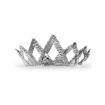 Silver or Gold Princess Sequin Tiara Women's Costume Accessory.jpg