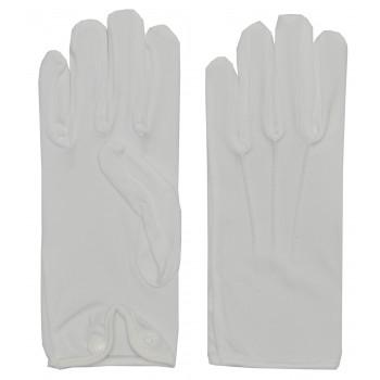 White Gloves Nylon Men's Santa Magician Clown Costume Accessory.jpg