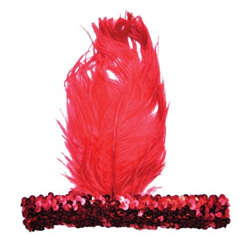 1920s Flapper Stretch Sequin Headband Costume Accessory Red.jpg
