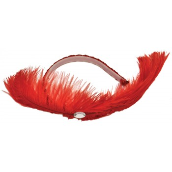 Dance Hall Headpiece Feather Dancer Women's Costume Accessory Various Colours.jpg
