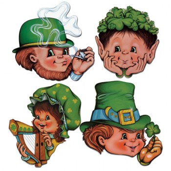 St. Patrick's Day Faces Cardboard Cutouts Pack of 4.jpg