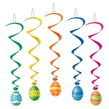 Easter Egg Multi Colored Hanging Whirl Decorations Pack of 5.jpg