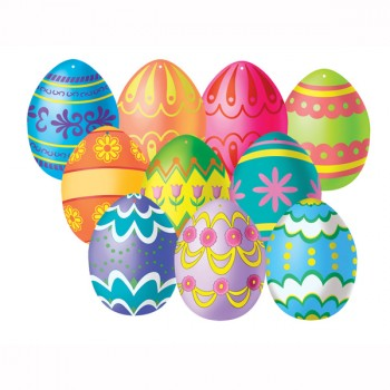 Mini Easter Egg Double Sided Cardboard Cutouts Pack of 10.jpg