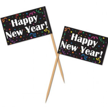 Happy New Year Flag Picks 6cm Pack of 50.jpg