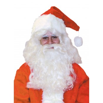 Santa Claus Deluxe Wig and Beard Set Christmas Men's Costume Accessory.jpg