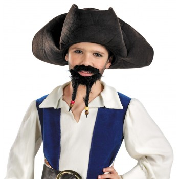 Pirates of the Caribbean Jack Sparrow Boy's Hat Mustache and Goatee Costume Accessory.jpg