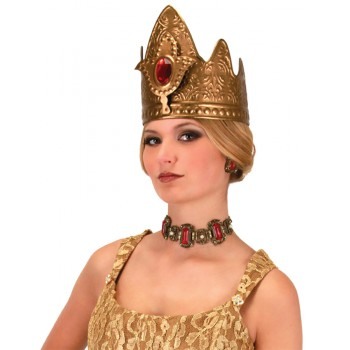 Adult Medieval Queen Gold Crown Women's Costume Headpiece.jpg