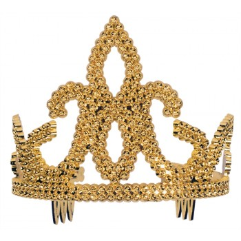 Gold Plastic Child Tiara With Combs.jpg