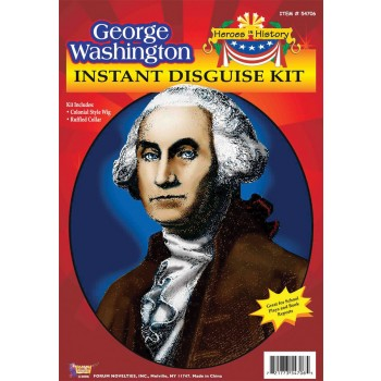 Heroes in History - George Washington Colonial Wig and Collar Costume Kit.jpg
