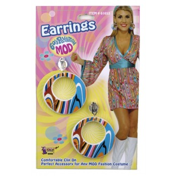 1960's Adult Women's Groovy Mod Hippie Costume Earrings.jpg