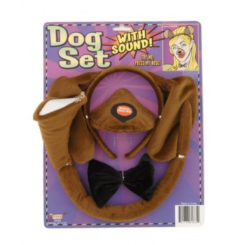 Puppy Dog Ears Tail Bowtie & Nose With Sound Costume Accessory Set.jpg