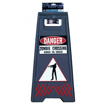 Beware of Zombie Sign and Tape Halloween Props.jpg