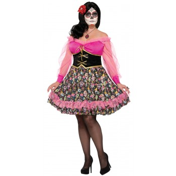 Day of the Dead Lady Adult Plus Costume.jpg