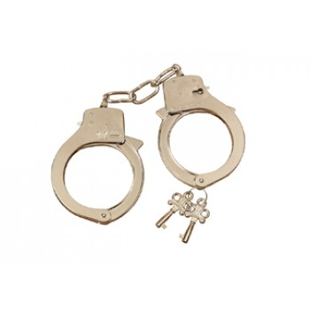 Police Officer Metal Handcuffs with Keys Costume Accessory.jpg